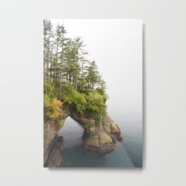 Cape Flattery Arch Ocean Rock Geology Washington Cliff Hiking Forest Trees Metal Print