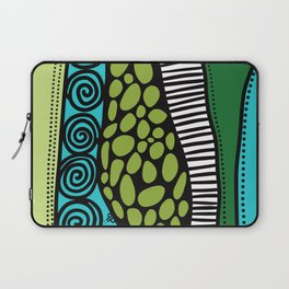 Green Dive -Plongeon vers-textures Laptop Sleeve