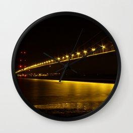 River of Gold- Humber Bridge Wall Clock