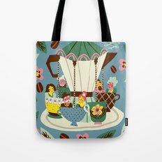 The Coffee Carousel Tote Bag