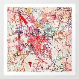 Brockton map Massachusetts MA Art Print