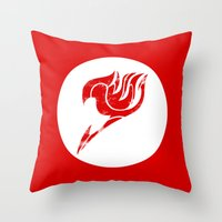 fairy tail Throw Pillows featuring Fairy Tail Segmented Logo circle by JoshBeck