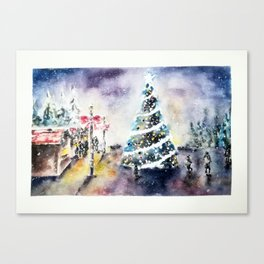 Quiet evening at the Christmas Market Canvas Print