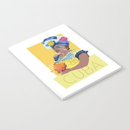 Cuban Lady With Flowers Notebook