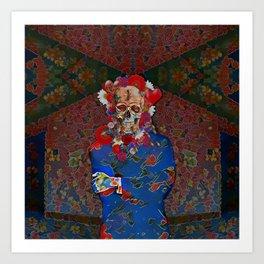Skull Flower Power Immigrant Art Print