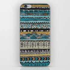 Duck egg and Gold iPhone & iPod Skin
