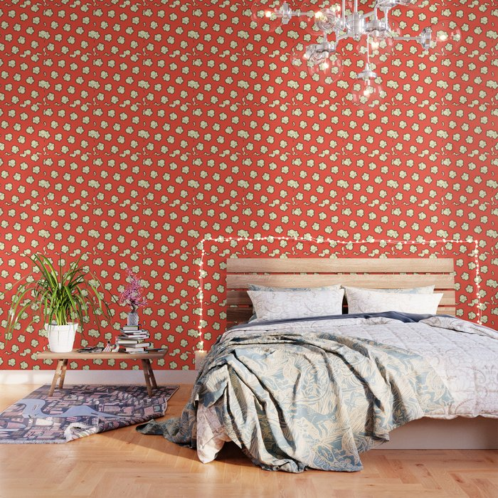 Popcorn Pattern Wallpaper By Evannave