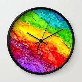 Color Flow #1 Wall Clock
