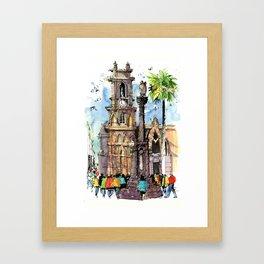 San Miguel de Allende Framed Art Print