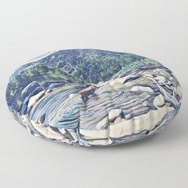 Golden Retriever. Mountain Lake Trail Floor Pillow