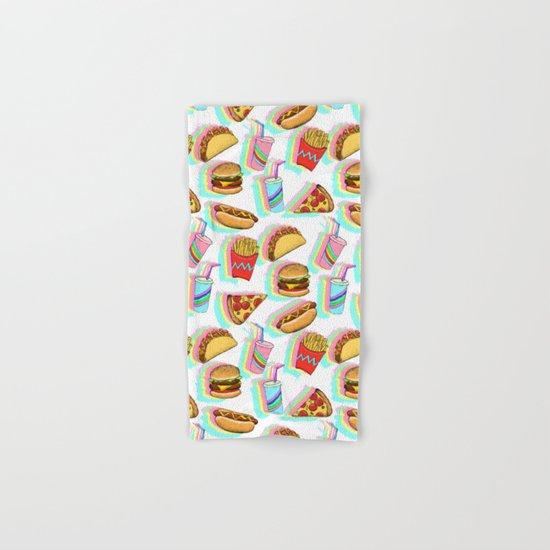 Rainbow Fast Food Hand & Bath Towel