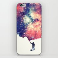 universe iPhone & iPod Skins featuring Painting the universe by badbugs_art