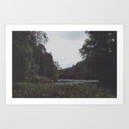 Lake of the dryads Art Print