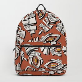 deco feathers sienna saffron Backpack