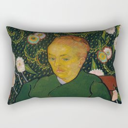 Vincent van Gogh - La Berceuse (Woman Rocking a Cradle; Augustine-Alix Pellicot Roulin, 1851–1930) Rectangular Pillow