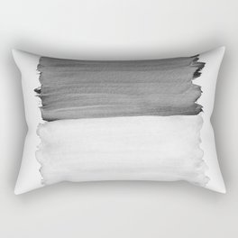 Gray Black White Abstract Minimalism #1 #minimal #ink #decor #art #society6 Rectangular Pillow