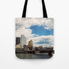 Hearts Over Pittsburgh Tote Bag