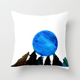 Wolves Howling Throw Pillow