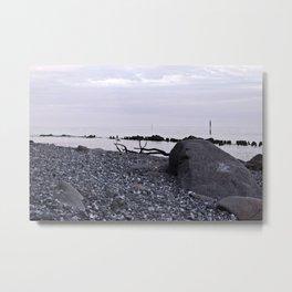 STONE BEACH on the Baltic Sea Metal Print