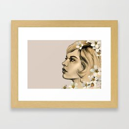Portrait of her Framed Art Print