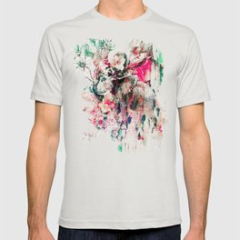 Watercolor Elephant and Flowers T-shirt