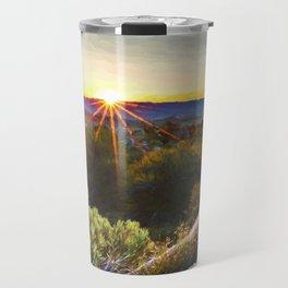 Sage Mountain Sunset Travel Mug