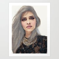 xoxo Art Prints featuring XOXO by Sara Eshak