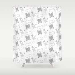Burrito Puppy, Playful Pattern Shower Curtain