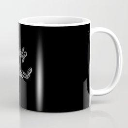 'Heavily Meditated' text Coffee Mug
