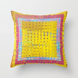 Abstract Color Graphic Sunshine Throw Pillow