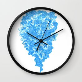 March's Blue 1  |artline drawing pens Wall Clock