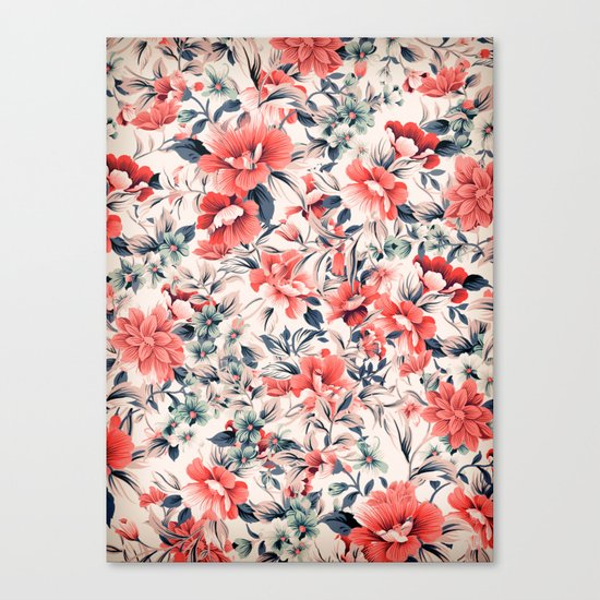 FLORAL PATTERN 7 Canvas Print