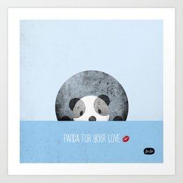 Panda for your love Art Print