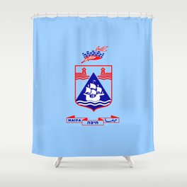 Flag of Haifa Shower Curtain