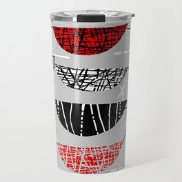 Nero Rosso Mod Travel Mug