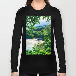 Hamoa Beach Hana Maui Hawaii Long Sleeve T-shirt