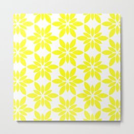 Simply Yellow Pattern Metal Print