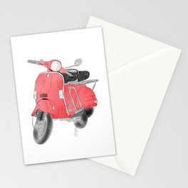 Red moto Stationery Cards