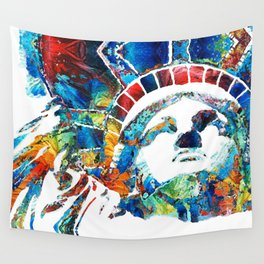 Colorful Statue Of Liberty - Sharon Cummings Wall Tapestry