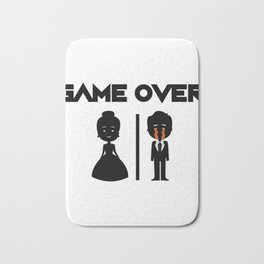 Game Over Groomsmen - Groom Funny Bath Mat