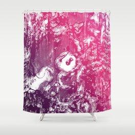 Inky Shadows - Purple edition Shower Curtain