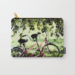 Red Tandem Bike  Carry-All Pouch