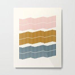 Geometric Piano Keys Metal Print