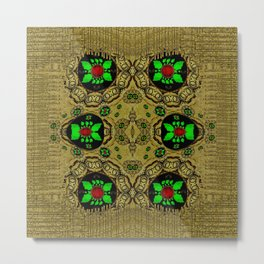 Namaste gold and florals in popart Metal Print