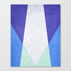 Abstract Purple Blue & Green Canvas Print