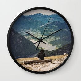 View of the valley Wall Clock