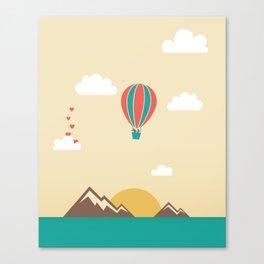 Love Balloon Canvas Print