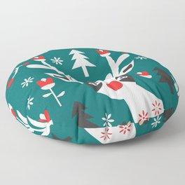Merry Christmas reindeer Floor Pillow