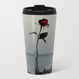Ocean Rose Metal Travel Mug