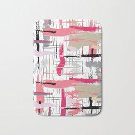 Pink Brushstroke Bath Mat